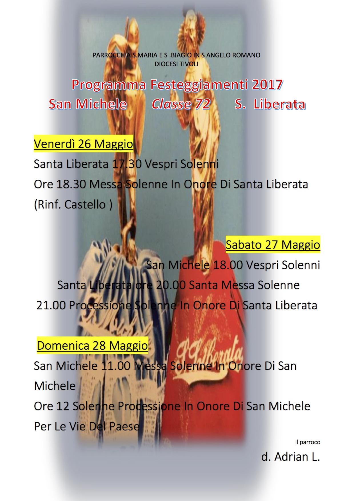 Programma Festeggiamenti 2017