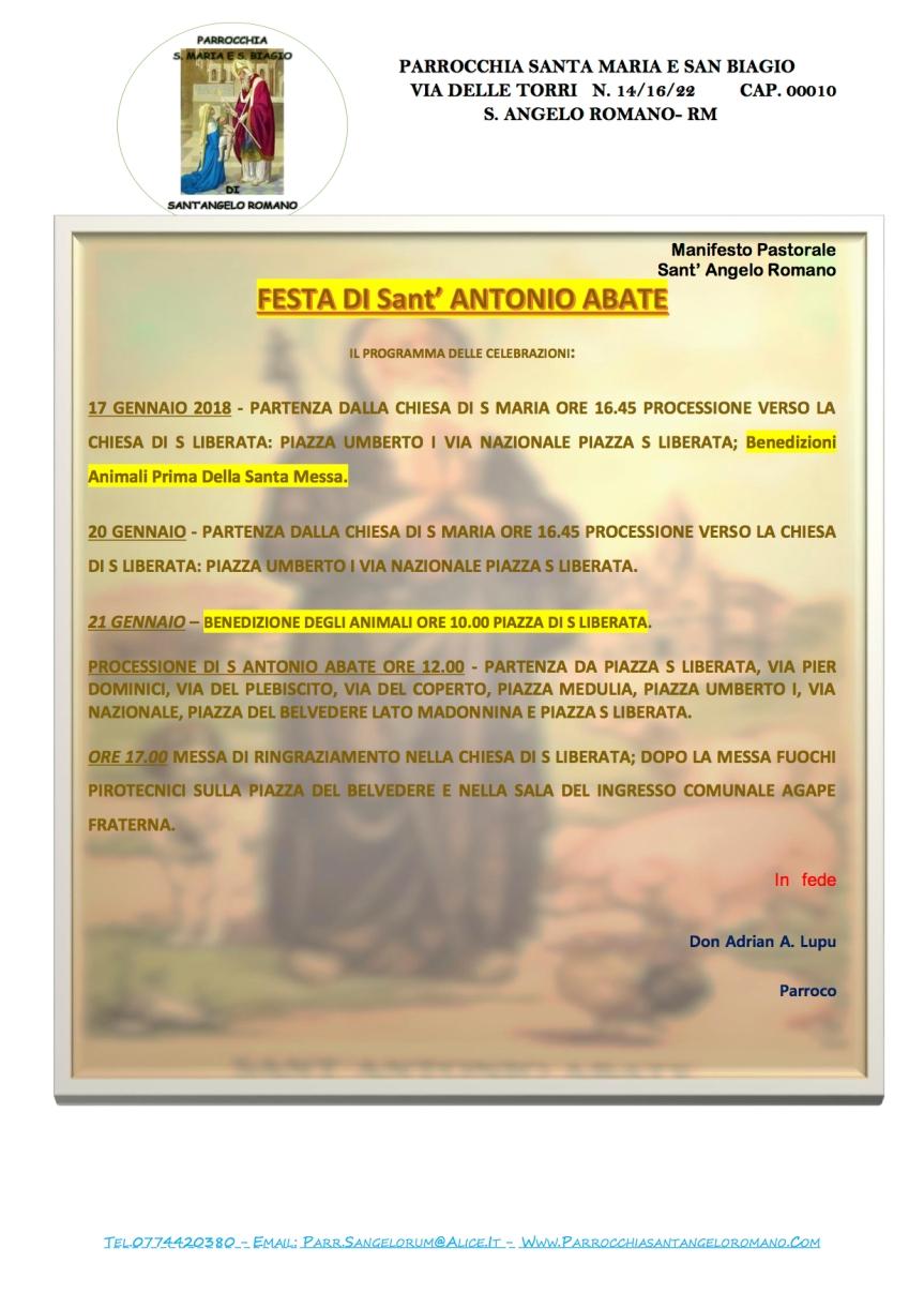s antonio abate 2018 Manifesto Pastorale