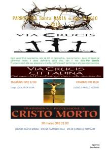 via crucis manifesto 2018 PARROCCHIA Santa MARIA e San BIAGIO 2018