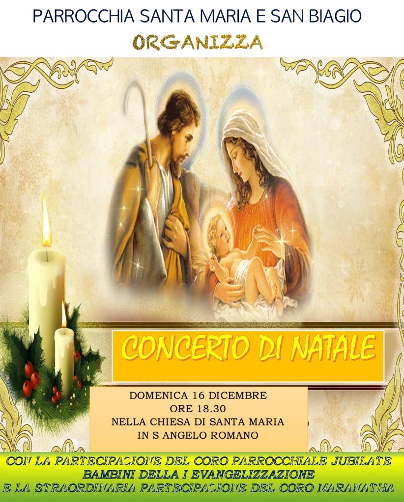 Calendario Liturgico Maranatha.Concerto Natale Parrocchia Santa Maria E San Biagio